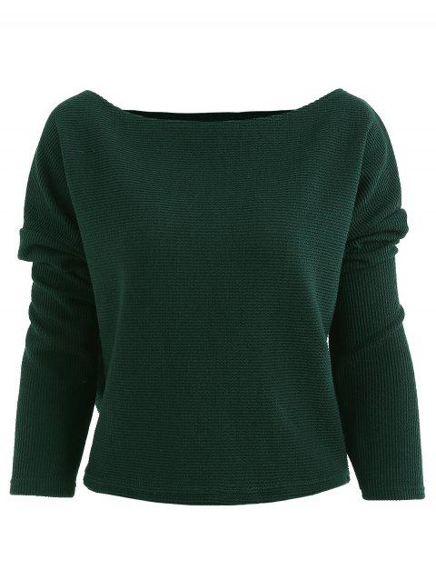 93a4cc9bf33 2019 Batwing Sleeve Boat Neck T Shirt In SEA GREEN L