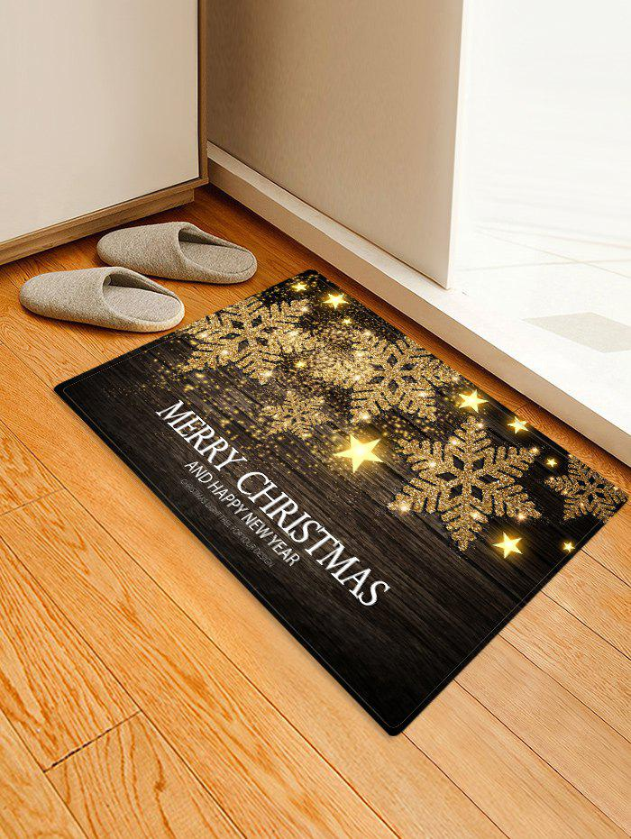 Merry Christmas Snowflake Printed Decorative Floor Mat - TAUPE W20 X L31.5 INCH