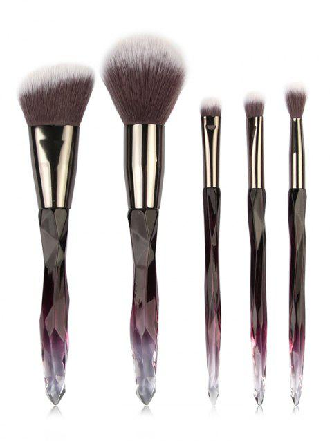 5 Pcs Fiber Hair Eyeshadow Blush Powder Travel Makeup Brush Set - 005