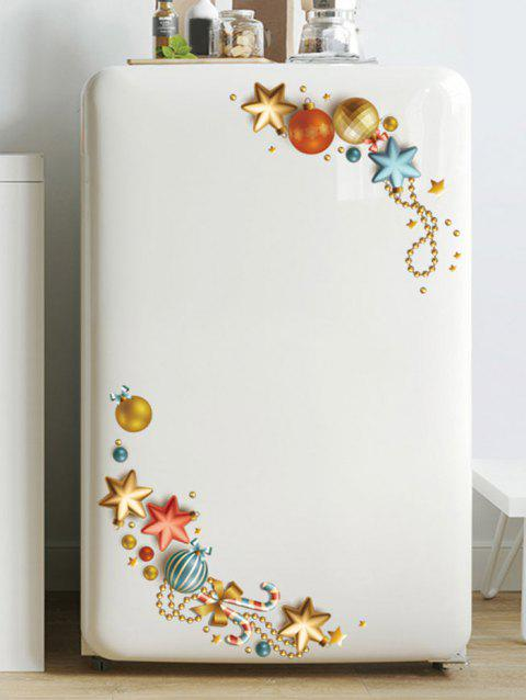 Christmas Ball Star Pattern Removable Wall Sticker - GOLD