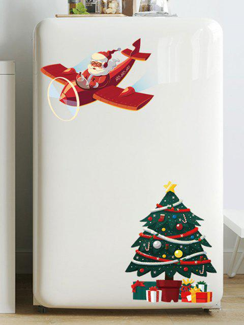 Father Christmas Tree Removable Wall Sticker - LAVA RED