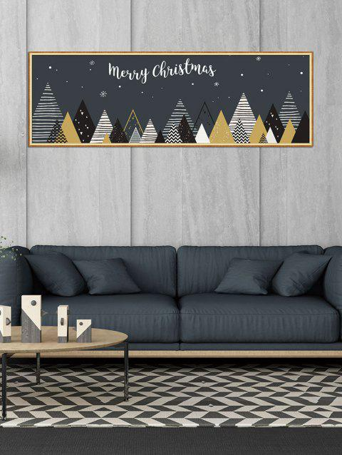 Merry Christmas Snowflake Pattern Removable Wall Sticker - ASH GRAY