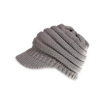 Vintage Solid Color Knitted Baseball Cap