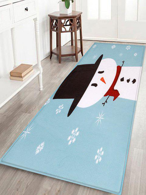 Cute Snowman Home Decor Floor Mat - multicolor W24 X L71 INCH