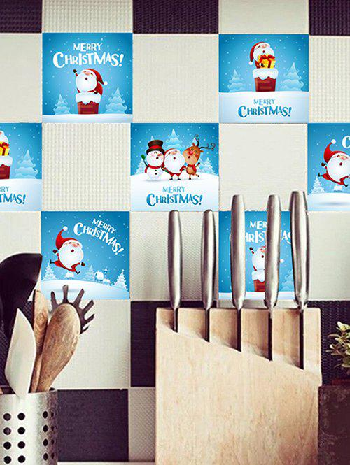 Christmas Santa Claus Pattern Tile Stickers - multicolor 20*20CM*20PCS