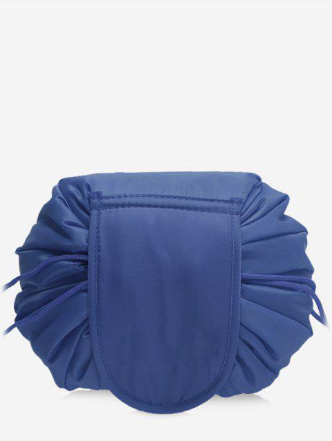 Solid Color Cosmetic Large Capacity Toiletry Bag - CADETBLUE