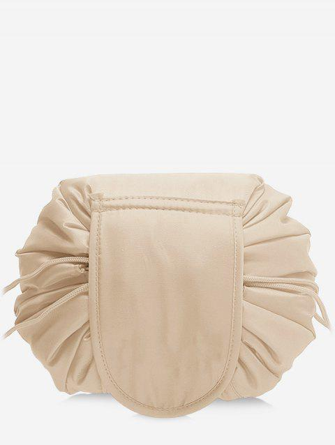 Solid Color Cosmetic Large Capacity Toiletry Bag - APRICOT