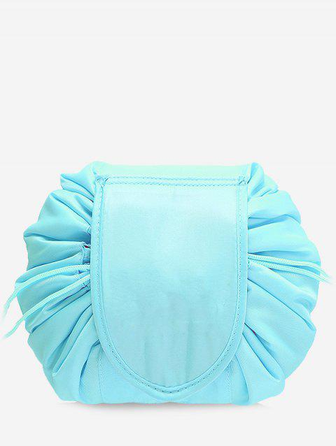 Solid Color Cosmetic Large Capacity Toiletry Bag - LIGHT AQUAMARINE