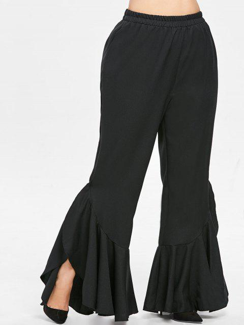 Plus Size Ruffle Detail Pants - BLACK 5X