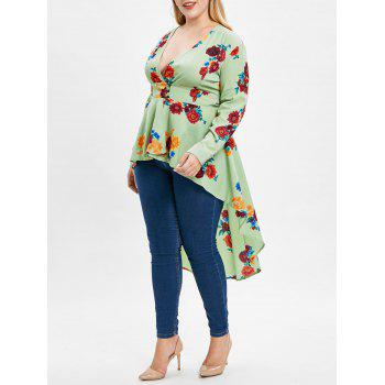 "<P>Plus Size High Low Floral Print Maxi Blouse</P><I Class=""Icon Down Js Tap Up Down""></I> by Dress Lily"
