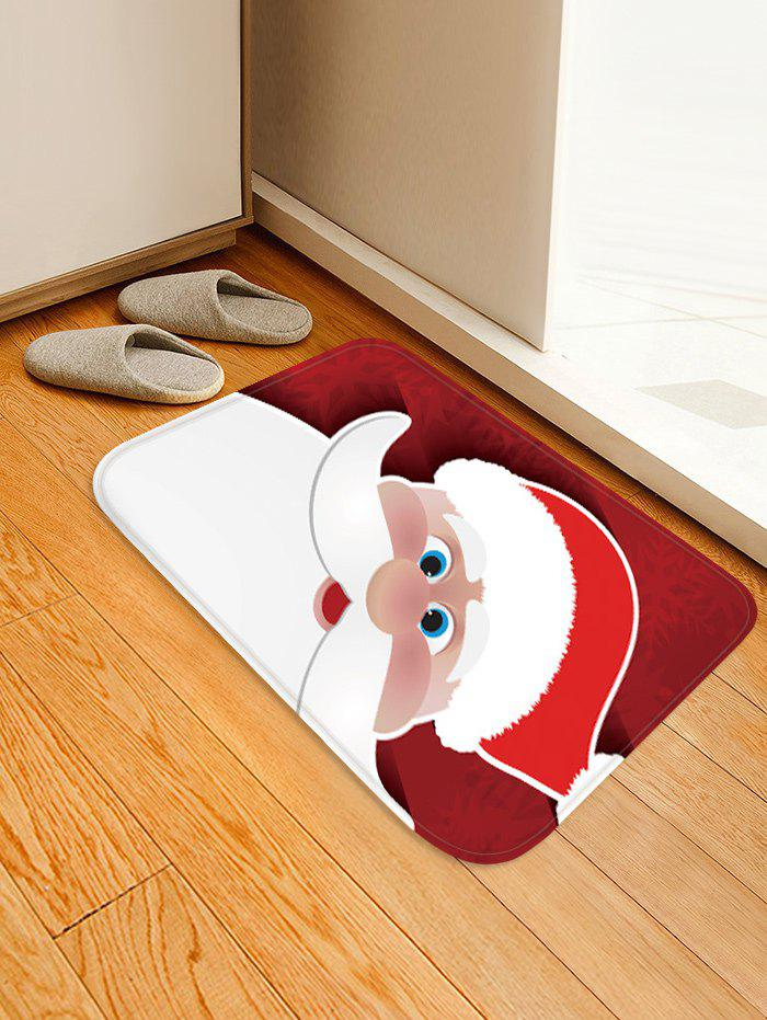 Christmas Santa Claus Pattern Water Absorption Floor Rug - multicolor W20 X L31.5 INCH