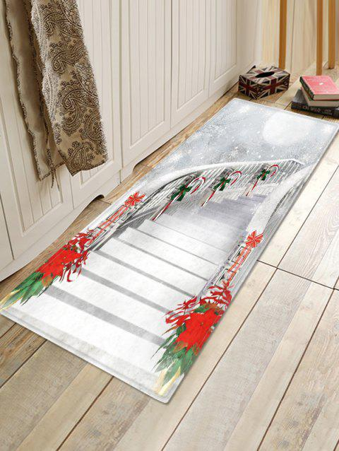 Christmas Stairs Pattern Anti-skid Water Absorption Area Rug