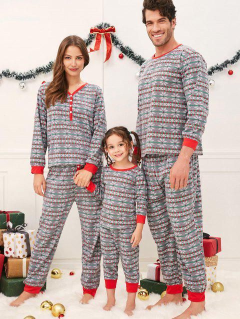 Matching Family Christmas Pajamas.Snowflake Print Matching Family Christmas Pajamas