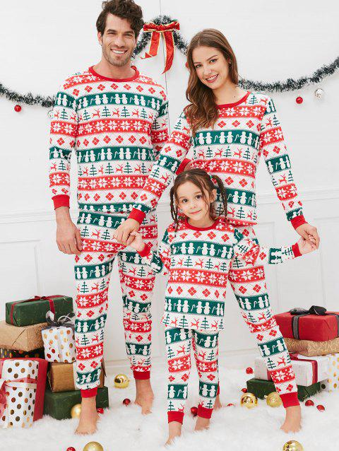 Christmas Geometric Pattern Pajama Sets for Family - multicolor KID 8T