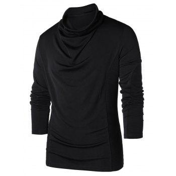 Heap Pile Collar Long Sleeve T-shirt