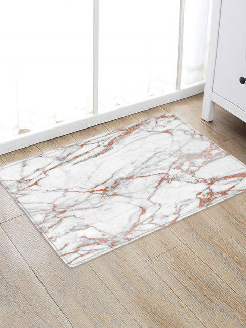 Marble Pattern Water Absorption Anti-skid Area Rug - WHITE W24 X L35.5 INCH