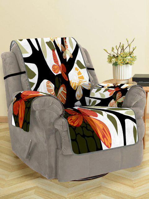 Butterfly Tree Pattern Couch Cover - multicolor SINGLE SEAT