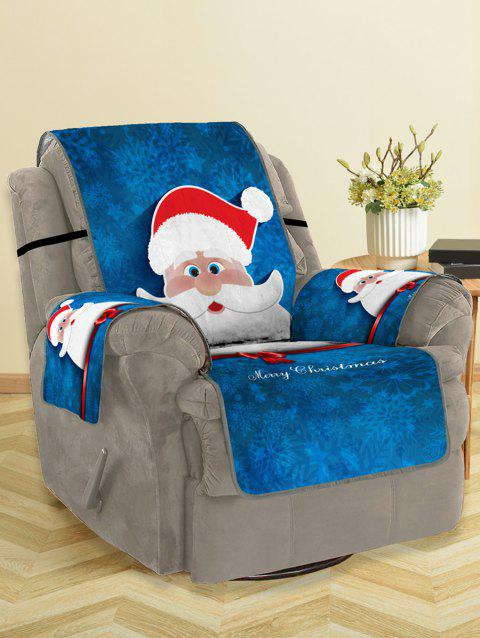 Christmas Santa Claus Pattern Couch Cover - multicolor SINGLE SEAT