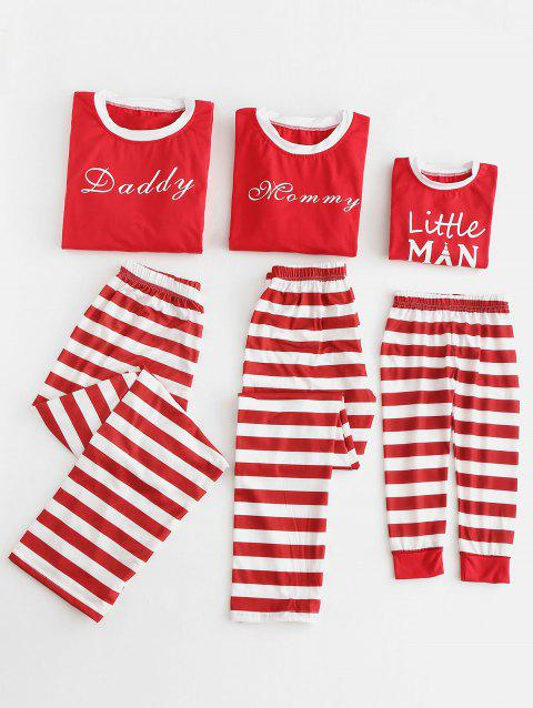 Letter Print Christmas Matching Family Pajama - RED DAD 2XL