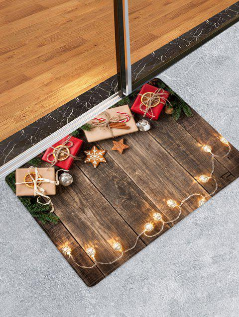 Christmas Gift Wooden Printed Decorative Floor Mat - WOOD W16 X L24 INCH