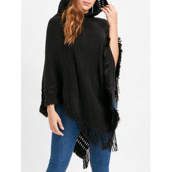 Dresslily coupon: Hooded Fringed Sweater Cape