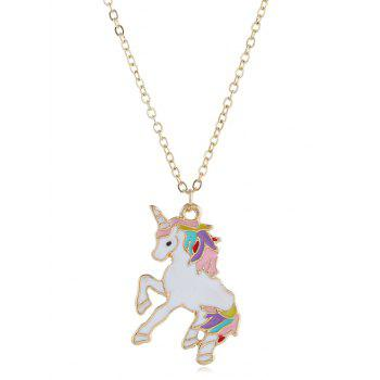 Unicorn Design Alloy Drop Necklace