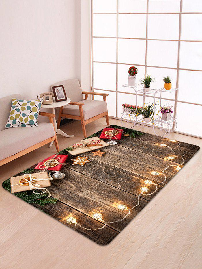 Christmas Gift Wooden Printed Decorative Floor Mat - WOOD W47 X L63 INCH