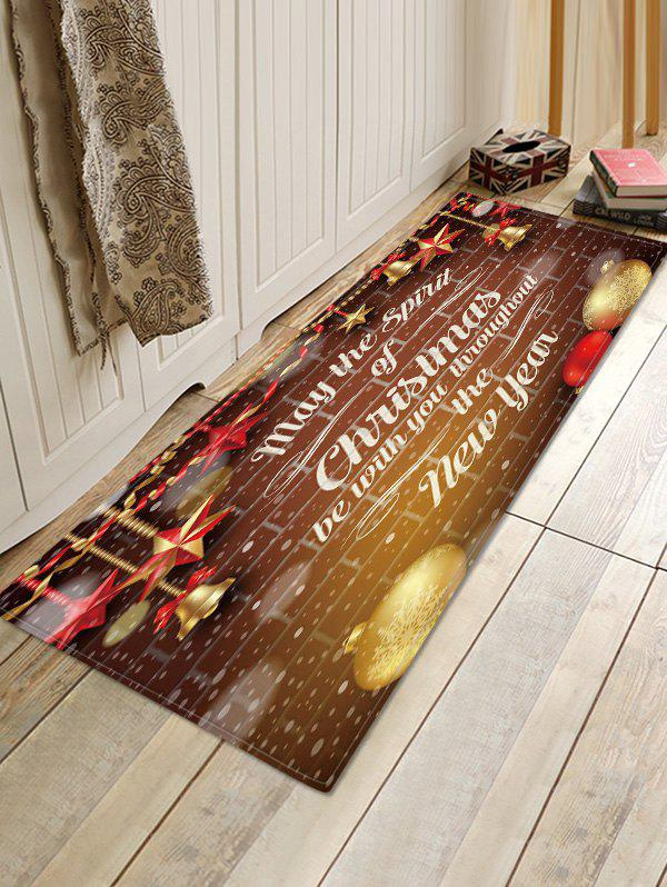 Christmas Blessing Pattern Anti-skid Water Absorption Area Rug фото