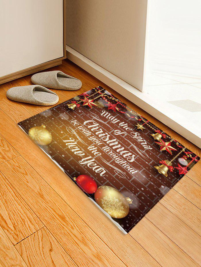 Christmas Blessing Pattern Anti-skid Water Absorption Area Rug - multicolor W16 X L24 INCH