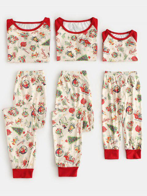 Patterned Matching Christmas Family Pajamas - multicolor MOM XL
