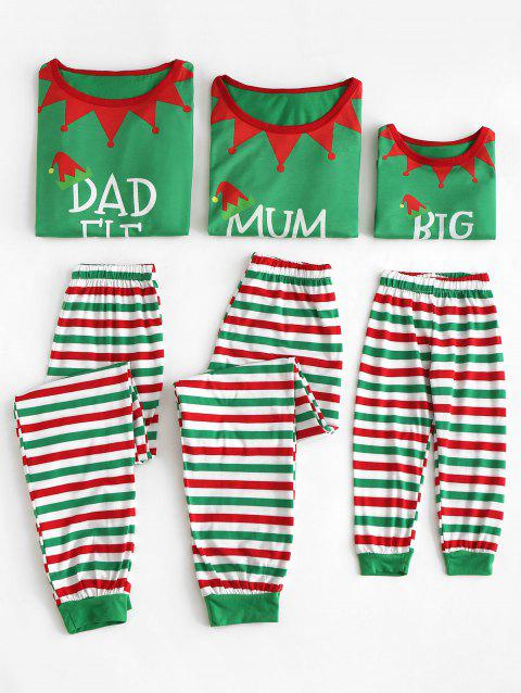 Elf Matching Family Christmas Pajamas - CLOVER GREEN MOM XL