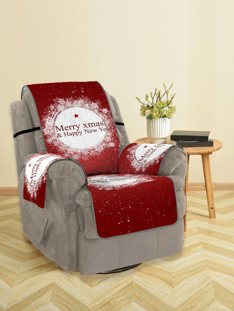 Christmas Greeting Pattern Couch Cover