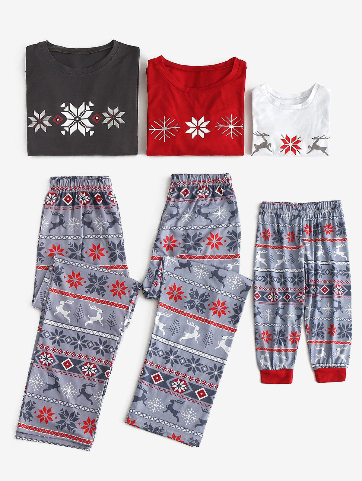 Patterned Family Matching Christmas Pajama Set - multicolor KID M