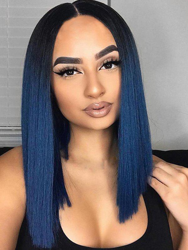 Medium Ombre Straight Party Synthetic Wig - multicolor