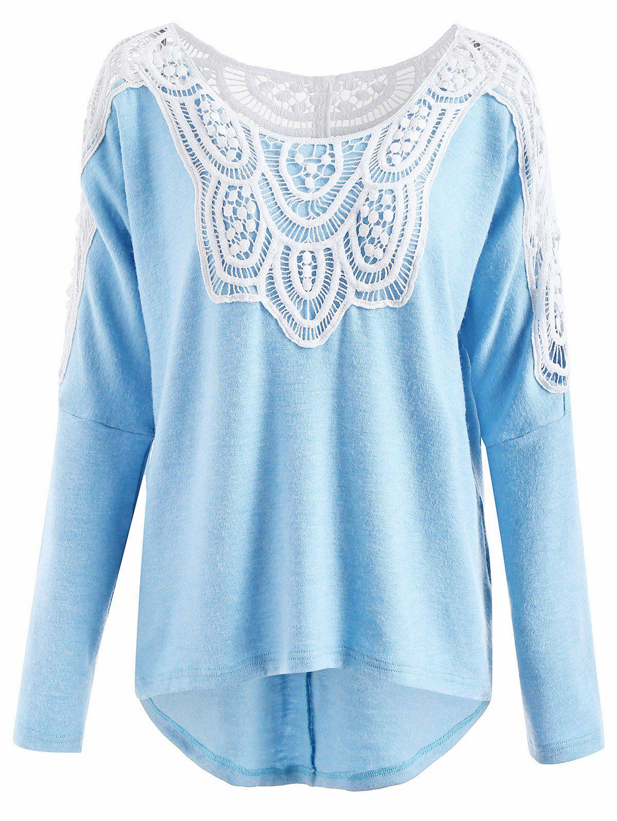 Lace Insert Pullover Sweater