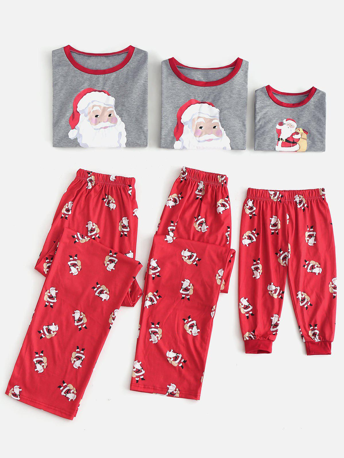Santa Claus Print Matching Christmas Family Pajamas