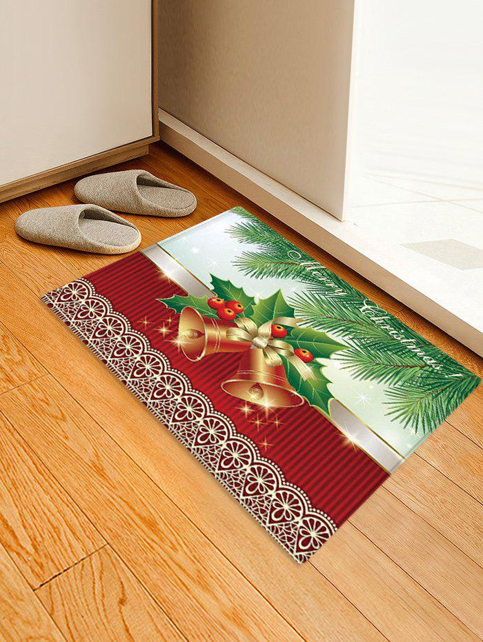 Christmas Tree Bells Pattern Anti-skid Water Absorption Area Rug - multicolor W16 X L24 INCH