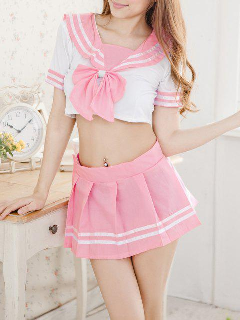 Ensemble de Costume d'Uniforme Scolaire - Rose Cochon ONE SIZE