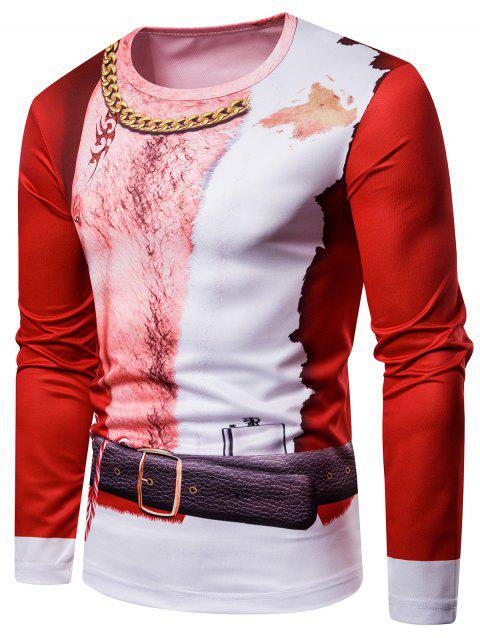 c245acfa8951 LIMITED OFFER  2019 Christmas 3D Human Body Print Crew Neck Tee In ...