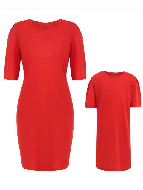 f7afef44067b 2019 Mother and Daughter Matching Christmas Dress In RED MOM M ...