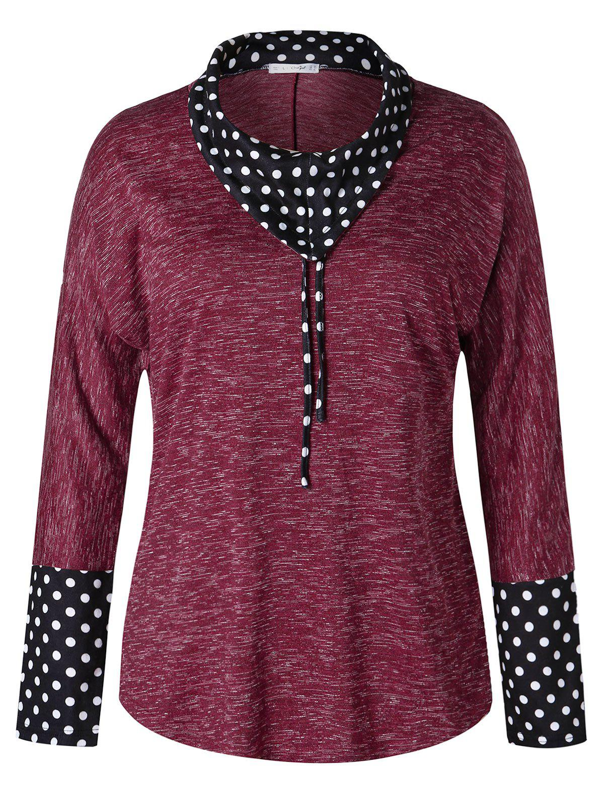 Plus Size Polka Dot Marled T-shirt фото