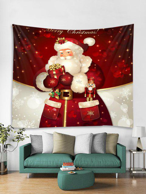 70c81fda9c6 Christmas Santa Claus Gift Print Tapestry Wall Hanging Decor - multicolor  W59 X L51 INCH