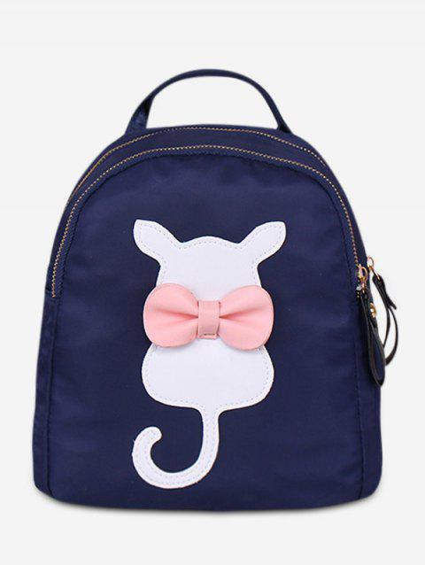 a53e517364 2019 Bowknot Cat Pattern Student Backpack In DEEP BLUE