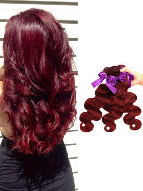 f36a4059e9 Malaysian Virgin Human Hair Body Wave Hair Weaves - RED WINE 18INCH X  20INCH X 22INCH