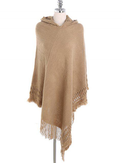 Winter Hooded Wrap Shawl Scarf - TAN