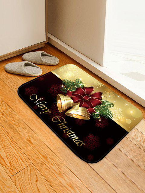 Christmas Bells Pattern Anti-skid Water Absorption Area Rug - multicolor W16 X L24 INCH