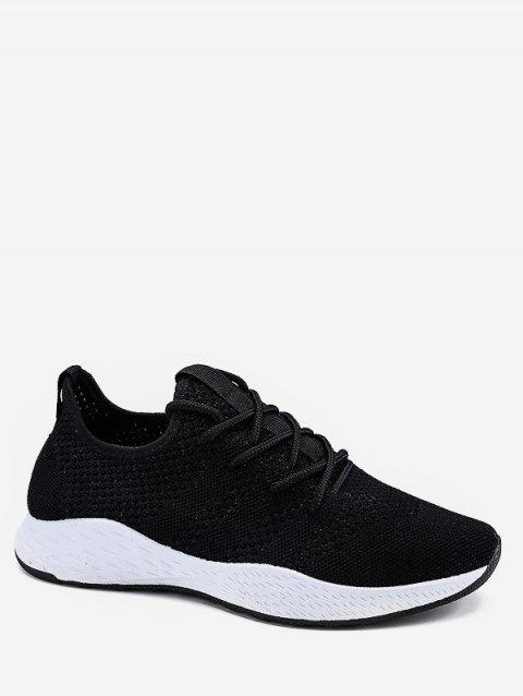 Lace Up Breathing Running Sneakers - WHITE EU 42