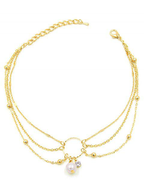 Hollow Round Shape Beach Anklet Chain - GOLD