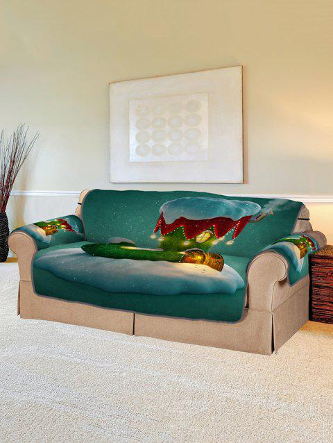 Christmas Boot House Print Couch Cover