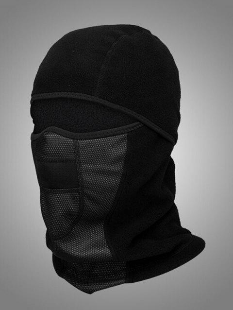 Winter Face Mask Windproof Trapper Hat - BLACK